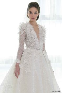 Ziad Nakad wedding dresses 2013 ball gown long sleeves close up bodice...Pretty, Great details to recreate in your customized wedding dress. Pick 1-3 details for your unique look.