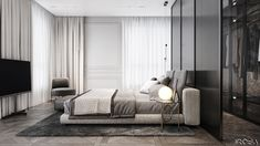 Not price, but the culture and the values we share. New luxury is a modern individuality, progressive design and functionality. Not that is the new, but what is an important one. Modern Master Bedroom, Modern Bedroom Design, Minimalist Bedroom, Home Bedroom, Master Bedrooms, Hotel Room Design, Bedroom Closet Design, Interior Design Studio, Living Room Tv Unit Designs