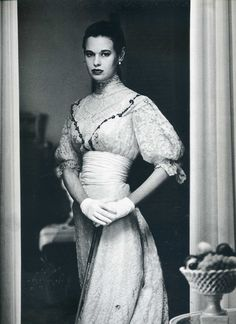 Gordon Parks: Gloria Vanderbilt in costume for Molna's play The Swan, 1954.