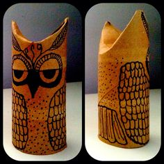 I made a toilet paper roll owl tonight! I <3 owls.