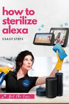 Cleaning hacks, tips, and advice for your Echo, Echo Show, Echo Dot speakers including the best and products to clean and sanitize Alexa in every household room Alexa Speaker, Echo Speaker, Speakers, Echo Echo, Alexa Echo, Best Smart Home, Gadgets, Alexa Skills, Gadget