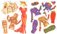 ADRIAN,  Hollywood's Star Designer and Couturier  Paper Dolls by David Wolfe  4