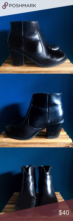 Seychelles Crazy for You ankle boots Black leather ankle boots by Seychelles. Barely ever worn and in excellent condition. No scuffs but could use a good polishing (sorry - I'm fresh out of black shoe polish). Seychelles Shoes Ankle Boots & Booties