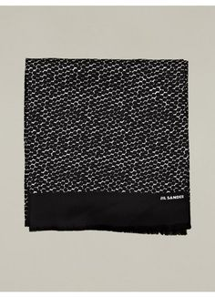 4a188a6afa0104 Hexagon Print Silk Scarf Jil Sander