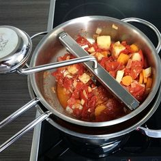 #tomatosauce in the making.  It seems to be a good #tomato year so I wanted to preserve this #summertaste a little longer. Very simple with only #carrots #celery #onions #garlic and #oliveoil but very #tasty with #aromatic #tomatoes from our #local #farmersmarket. Looking forward to some #cozy #cold #autumn nights with a #comforting hot  #pasta #dish.  | #italian #italy #spaghetti #pastaliebe #sauce #tomate #tomatensauce #sugo #tomaten #sommer #summer