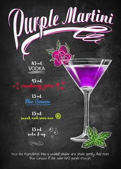 Mixed Drinks Alcohol, Alcohol Drink Recipes, Martini Recipes, Coctails Recipes, Margarita Recipes, Bar Drinks, Cocktail Drinks, Yummy Drinks, Alcoholic Drinks