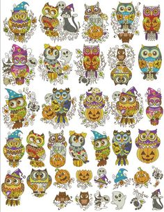 Happy Owl-oween | Machine Embroidery Designs By Sew Swell