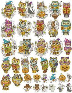 Machine Applique, Machine Embroidery Designs, Happy Owl, Symbols, Sugar Skulls, Stitch, Sew, Candy Skulls, Full Stop