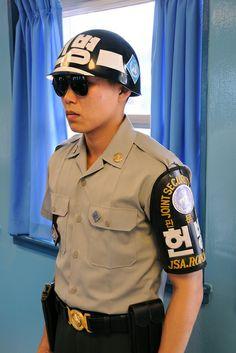Korean DMZ Incidents   South Korean Soldier inside the Military Armistice Commission Building ...