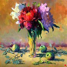 Crystal Vase by Trisha Adams Oil ~ 36 x 36