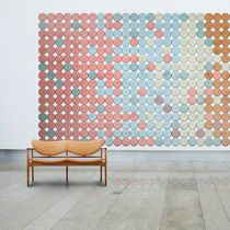 Wood wool acoustic panel / wall-mounted / design / for public buildings