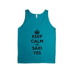 Keep Calm She Said Yes Engaged Wedding Wed Married Marriage Husband Wife Relationship Love Family SGAL2 Men's Tank