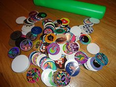 Vintage 80's Pogs, for this and more visit me at www.dandeepop.com