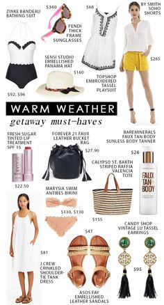 Warm Weather Getaway Must-Haves | theglitterguide.com