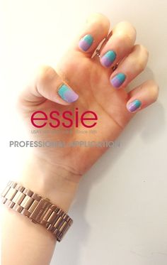 Francesca's spin on the summer sunset look - a wild ombre! #essielook #obsessie