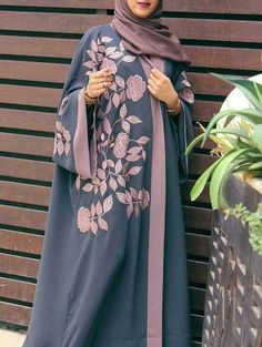 2019 abaya fashion and hijab abaya models - women& clothing and fashion Abaya Designs, Burqa Designs, Iranian Women Fashion, Islamic Fashion, Muslim Fashion, Muslim Dress, Hijab Dress, Hijab Outfit, Dress Skirt