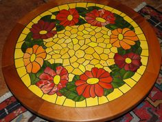 Mosaic Art, Mosaic Glass, Mosaic Tiles, Mosaic Designs, Mosaic Patterns, Mosaic Outdoor Table, Homemade Art, Mosaic Flowers, Mosaic Madness