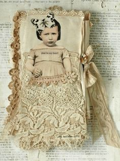 Mixed Media Fabric Collage Book of Little Dreamers | eBay