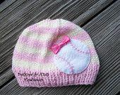 Knit BASEBALL Baby Hat BEANIE Childrens and by NinisHandmades