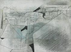 Ben Nicholson (British, St Ives Rooftops (Salubrious) Oct 19 - Oil and pencil on linen textured card, 32 x cm. Abstract Words, Abstract Art, Pure Image, Synthetic Cubism, Black And White Plates, Geometric Painting, Piet Mondrian, Irish Art, Dutch Painters