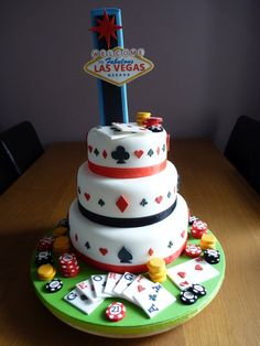 Amazing Las Vegas themed 21st Birthday cake