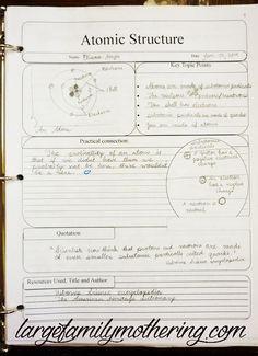 Notebooking Homeschool High School Science