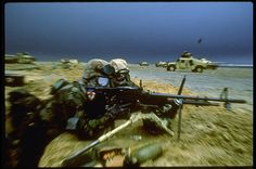 1st Marine Division fearful of chemical attacks from the Iraqis