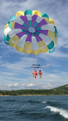 parasailing on Table Rock Lake in Branson, MO - July 2013