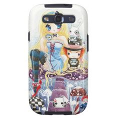 Tea time - Alice in Wonderland Samsung Galaxy S3 Case! Chibi cartoon anime pinup