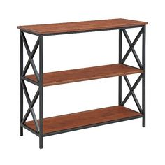 Bookcase: Tucson  Tier Bookcase, Brown ($114) ❤ liked on Polyvore featuring home, furniture, storage & shelves, bookcases, brown, display shelves, tiered shelves, tier shelf, tiered display shelves and shelf bookcase