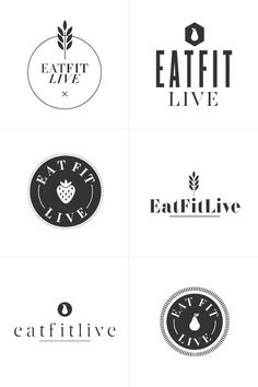 Eat Fit Live Logo I like the black and white simplicity of it!
