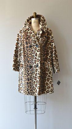 Felidae coat vintage 1960s faux leopard coat 60s by DearGolden