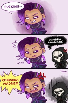 Reaper (Overwatch),Overwatch,Blizzard,Blizzard Entertainment,фэндомы,Sombra (Overwatch),Overwatch Comics