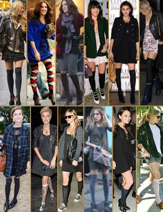 Lots of knee high sock inspiration!