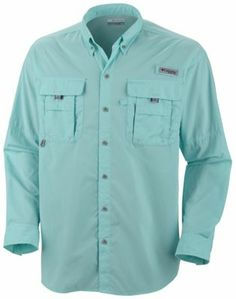 Designed specifically for the needs of anglers, this lightweight, durable nylon shirt dries fast, with mesh-lined cape vents at the back shoulder to keep you cool and built-in UV protection.
