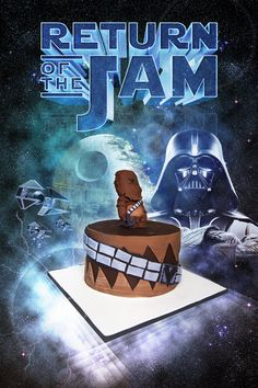 Chewbacca Cake Turned into Star Wars Poster Star Wars Cake, Cupcake Cookies, Cupcakes, Star Wars Poster, Chewbacca, Creative Cakes, Goodies, Stars, Fun Food