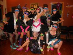 My sister's 80s bachelorette party with her bridesmaids!