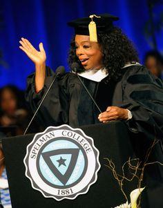 Oprah Winfrey at the 2012 Spelman College Commencement