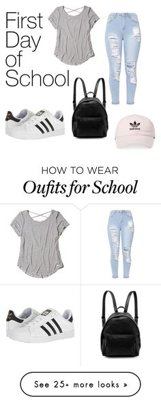 """School"" by ehillenbrand on Polyvore featuring Hollister Co., adidas and STELLA McCARTNEY"