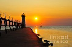 This is the lighthouse in Manistee, Michigan, USA. This image was captured July 2014.