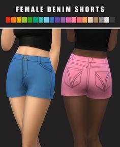 Denim Shorts at Maimouth Sims4 • Sims 4 Updates