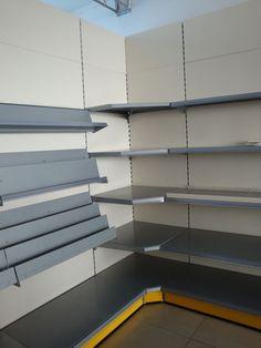 Gondola shelving, angle shelving, magazine shelving, more items @ store-equip.com