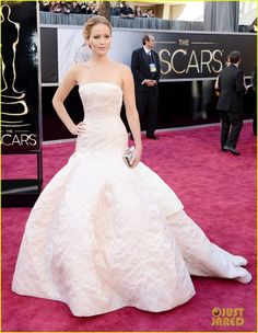 Flawless Jennifer Lawrence in Dior haute couture at the Oscars