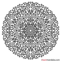 detailed flower coloring pages simple mandala 30