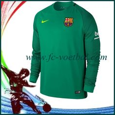 Nieuwe Barcelona Keepersshirt Groen 2016/2017 Bedrukken