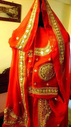 Gota Patti Lehenga, Lehenga Choli, Sari, Rajputi Dress, Indian Bridal Fashion, Beautiful Moments, Dress Codes, Traditional Dresses, Indian Wear