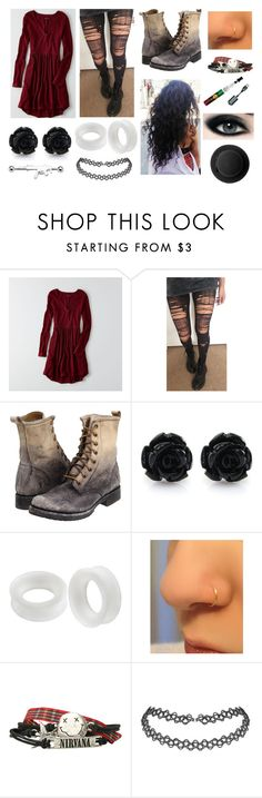 """""""Casual"""" by amanda-gail on Polyvore featuring American Eagle Outfitters, Frye and Monki"""