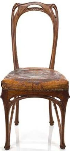 1904 Maison Coillot Dining Chair Hector Guimard France Woodworking Furniture Bench Styles