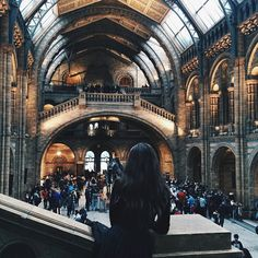 """""""blissful afternoon spent in one of my favourite buildings in the entirety of London #naturalhistorymuseum"""""""