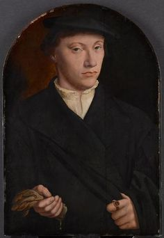 Artist: Bartholomäus Bruyn the Elder. (Wesel 1493 - 1555 Cologne ): Portrait of a young man with gloves 1550